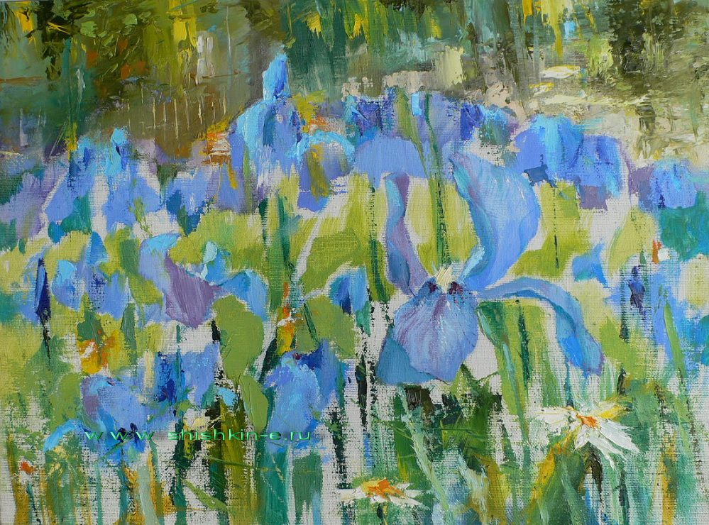 Irises. oil on canvas, 30 х 40 см