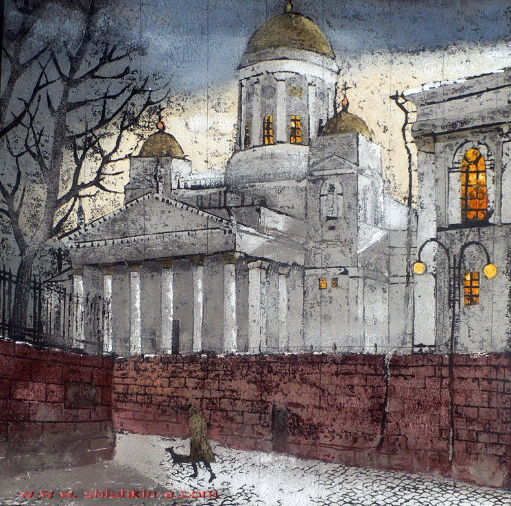 Nicholas Cathedral, author technique, size 29 х 29 см
