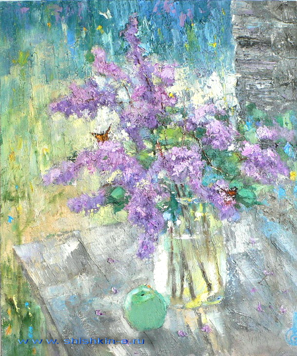 Lilac. oil on canvas. size 55 х 80 cm